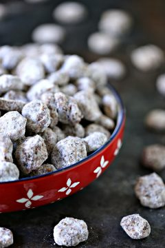 Honeycomb Chocolate Peanut Butter Puppy Chow