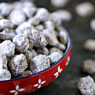 Honeycomb Chocolate Peanut Butter Puppy Chow is an easy snack mix recipe that is perfect for game night with family and friends.