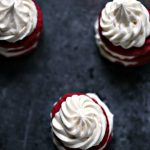 Red Velvet Cream Cheese Cookie Stacks with Cream Cheese Frosting