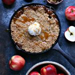 Skillet Caramel Apple Crisp