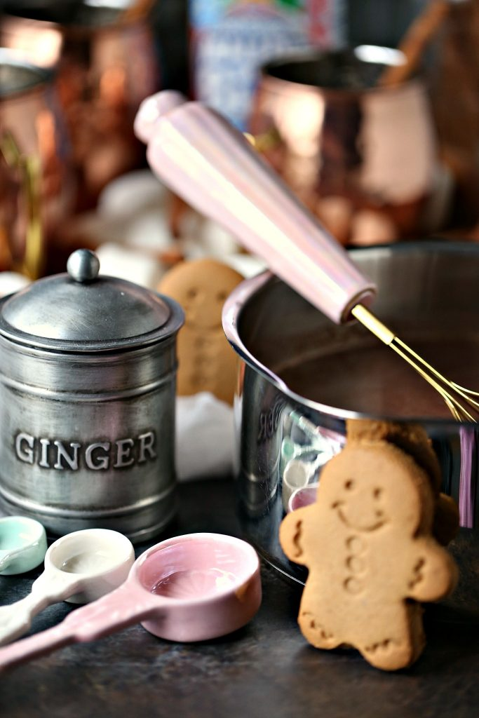 Gingerbread hot chocolate cooked on the stovetop for maximum flavour!