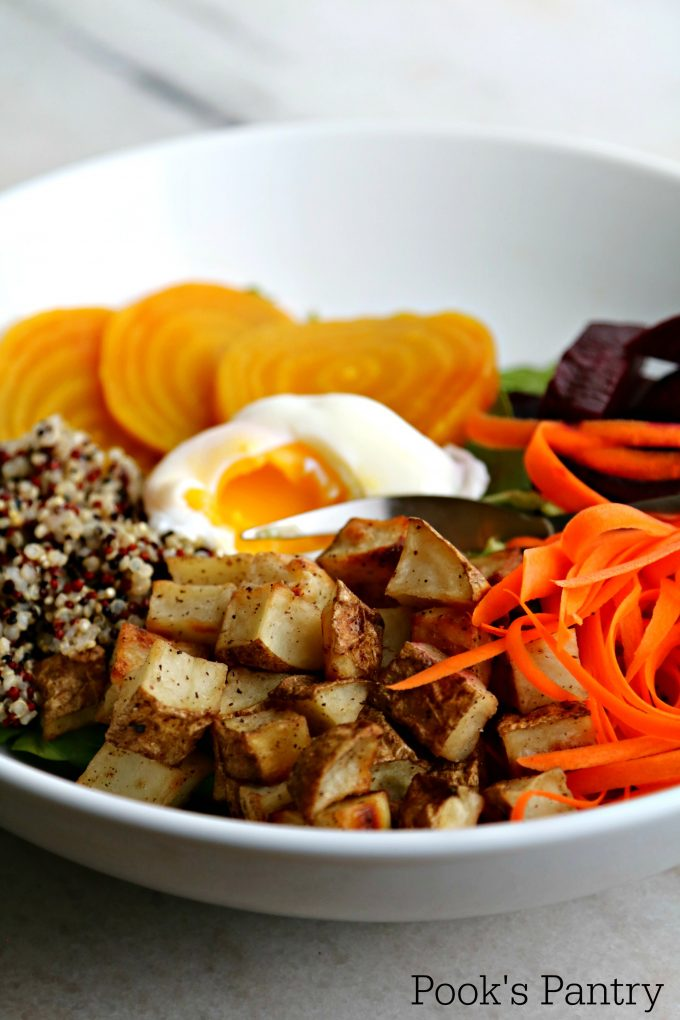 Winter Market Buddha Bowls with Potato, Quinoa and Beets from Pook's Pantry