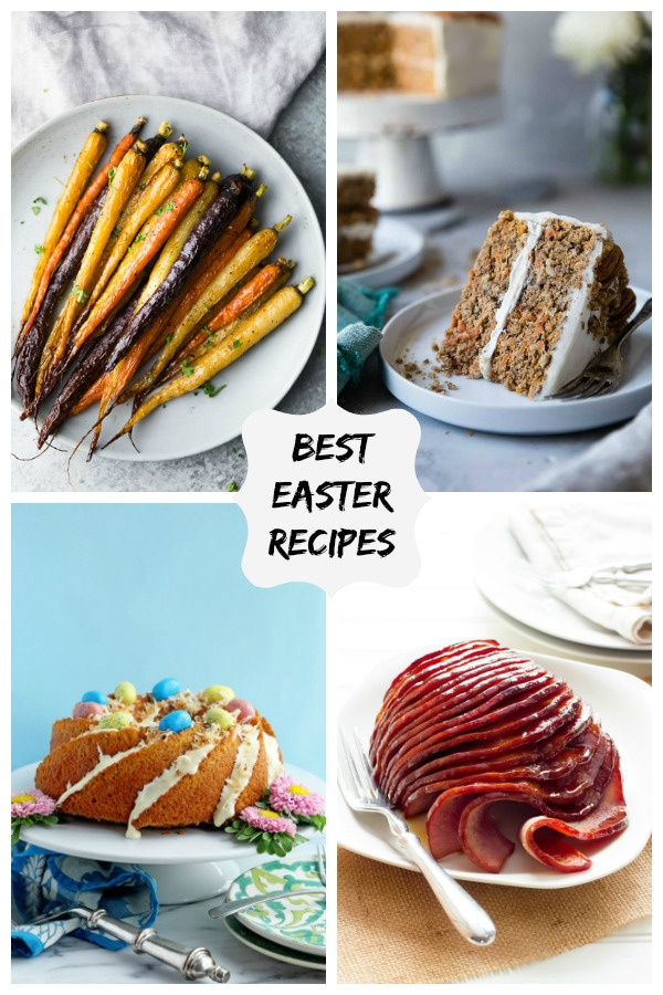 collage image for Best Easter Recipes is a collection of fun recipes from all your favourite food bloggers. These recipes are all Easter Bunny approved!