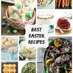 long collage image of all the best Easter recipes