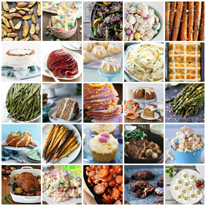 square collage image for Best Easter Recipes is a collection of fun recipes from all your favourite food bloggers. These recipes are all Easter Bunny approved!