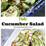 collage image of Thai cucumber salad