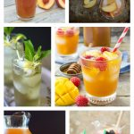 collage image of 6 of the best iced tea recipes on the internet