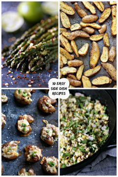 collage image featuring 4 side dish recipes