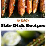 collage image featuring 2 images from 10 Easy Side Dish Recipes round up