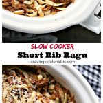 Slow Cooker Short Rib Ragu cooked to perfection and ready to be served!