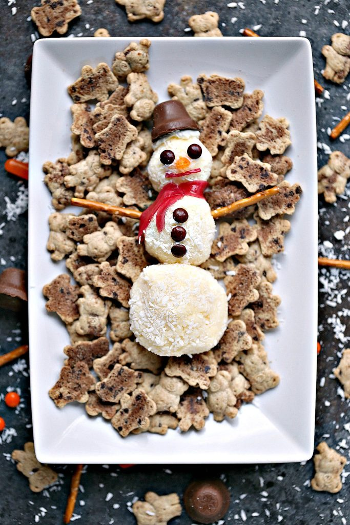 Mini Snowman Sweet Cheese Balls