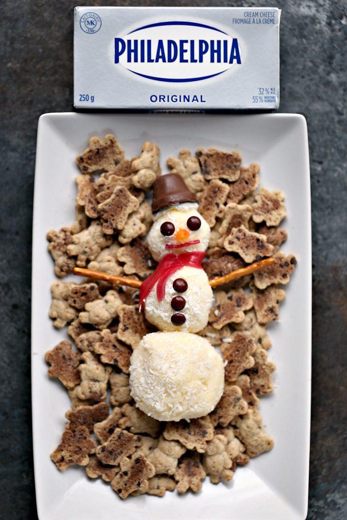 Mini Snowman Sweet Cheese Balls