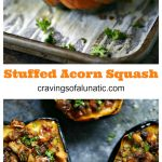 Stuffed Acorn Squash loaded with delicious filling and BACON!