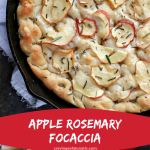 apple rosemary focaccia bread collage image